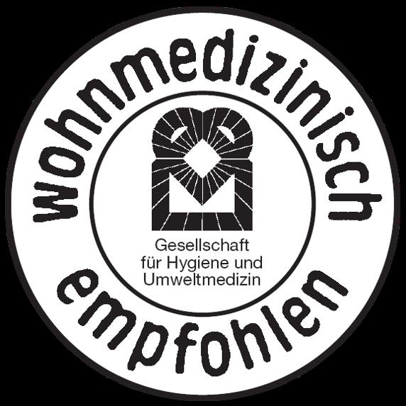 Prüfzeichen Wohnmedizinisch empfohlen